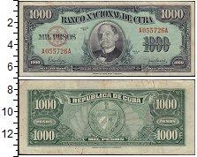 Изображение Банкноты Куба 1000 песо 1950  VF+
