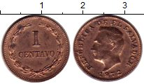 Изображение Монеты Северная Америка Сальвадор 1 сентаво 1972 Бронза XF
