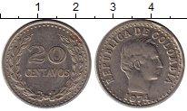 Изображение Монеты Южная Америка Колумбия 20 сентаво 1974 Медно-никель XF
