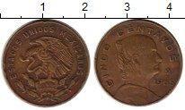 Изображение Монеты Мексика 5 сентаво 1965 Бронза VF