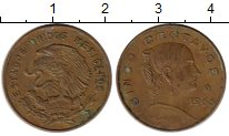 Изображение Монеты Северная Америка Мексика 5 сентаво 1966 Бронза XF
