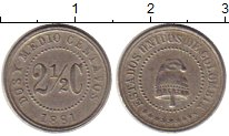 Изображение Монеты Южная Америка Колумбия 2 1/2 сентаво 1881 Медно-никель XF