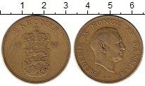Изображение Монеты Дания 2 кроны 1957 Латунь VF