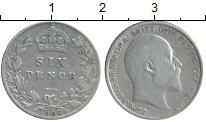 Изображение Монеты Великобритания 6 пенсов 1906 Серебро XF-