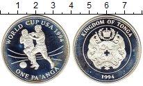 Изображение Монеты Тонга 1 паанга 1994 Серебро Proof- Чемпионат Мира по фу