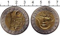 Изображение Монеты Финляндия 25 марок 2001 Биметалл UNC- Чемпионат мира по лы