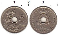 Изображение Монеты Бельгия 5 сантим 1920 Медно-никель XF