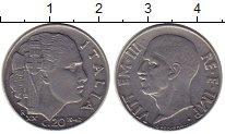 Изображение Монеты Европа Италия 20 сентесим 1942 Медно-никель XF