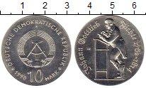 Изображение Монеты ГДР 10 марок 1990 Серебро UNC- Иоган  Готлиб  Фитхе