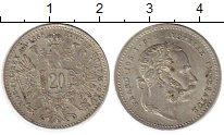 Изображение Монеты Европа Австрия 20 крейцеров 1868 Серебро XF-