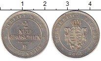 Изображение Монеты Германия Саксония 2 гроша 1865 Серебро XF