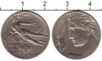Изображение Монеты Италия 20 сентесим 1912 Медно-никель VF