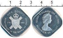 Изображение Монеты Остров Джерси 1 фунт 1981 Серебро Proof-