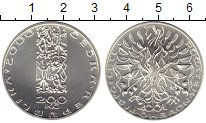 Изображение Монеты Европа Чехия 200 крон 2001 Серебро UNC