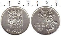 Изображение Монеты Европа Чехия 200 крон 1999 Серебро UNC