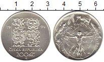 Изображение Монеты Европа Чехия 200 крон 1994 Серебро UNC