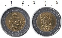 Изображение Монеты Европа Сан-Марино 500 лир 1988 Биметалл UNC-