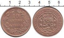 Изображение Монеты Европа Люксембург 10 сантим 1860 Медь XF
