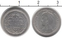 Изображение Монеты Нидерланды 10 центов 1918 Серебро VF