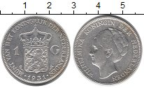 Изображение Монеты Европа Нидерланды 1 гульден 1931 Серебро XF