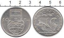 Изображение Монеты Португалия 10 эскудо 1954 Серебро XF