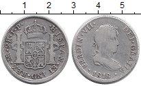 Изображение Монеты Южная Америка Перу 2 реала 1818 Серебро VF