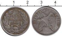 Изображение Монеты Чили 20 сентаво 1919 Серебро VF