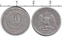 Изображение Монеты Мексика 10 сентаво 1889 Серебро VF