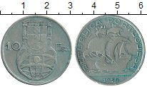 Изображение Монеты Европа Португалия 10 эскудо 1954 Серебро XF-