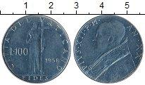 Изображение Монеты Ватикан 100 лир 1958 Сталь XF Пий XII
