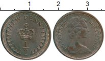 Изображение Монеты Великобритания 1/2 пенни 1971 Бронза XF