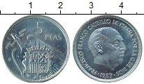 Изображение Монеты Испания 5 песет 1967 Медно-никель XF