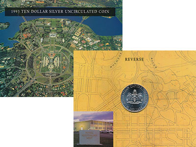 Изображение Подарочные монеты Австралия 10 долларов 1993 Серебро UNC