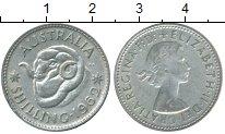 Изображение Монеты Австралия 1 шиллинг 1962 Серебро XF+