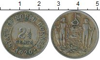 Изображение Монеты Великобритания Борнео 2 1/2 цента 1920 Медно-никель XF-