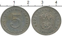 Изображение Монеты Панама 5 сентесим 1966 Медно-никель XF