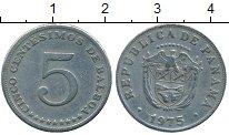 Изображение Монеты Панама 5 сентесим 1975 Медно-никель XF