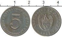 Изображение Монеты Северная Америка Панама 5 сентесим 1968 Медно-никель XF