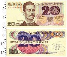 Изображение Банкноты Польша 20 злотых 1982  UNC Ромуальд Траугут