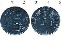Изображение Монеты Сан-Марино 50 лир 1972 Сталь UNC