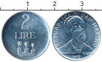 Изображение Монеты Сан-Марино 2 лиры 1972 Алюминий UNC
