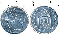 Изображение Монеты Сан-Марино 1 лира 1973 Алюминий UNC