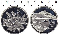 Изображение Монеты Бразилия 5 реалов 2014 Серебро Proof