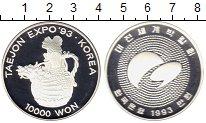 Изображение Монеты Южная Корея 10000 вон 1993 Серебро Proof