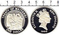 Изображение Монеты Австралия и Океания Новая Зеландия 1 доллар 1990 Серебро Proof