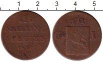 Изображение Монеты Швеция 1 скиллинг 1827 Медь VF