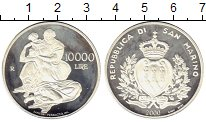 Изображение Монеты Сан-Марино 10000 лир 2000 Серебро Proof-