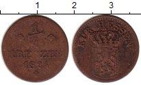 Изображение Монеты Гессен-Кассель 1/4 крейцера 1824 Медь VF