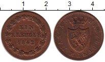Изображение Монеты Нассау 1 крейцер 1842 Медь XF-
