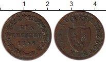 Изображение Монеты Германия Нассау 1 крейцер 1856 Медь VF